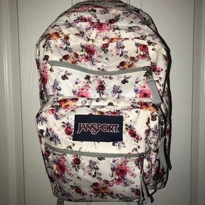 Jansport Big Student floral booksack